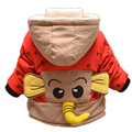 Baby Winter Cotton Coat Baby Girl Cartoon Cute Thick Down Boy Outerwear Snow Wear Fleece Fabric Handle Infant Hooded Clothing