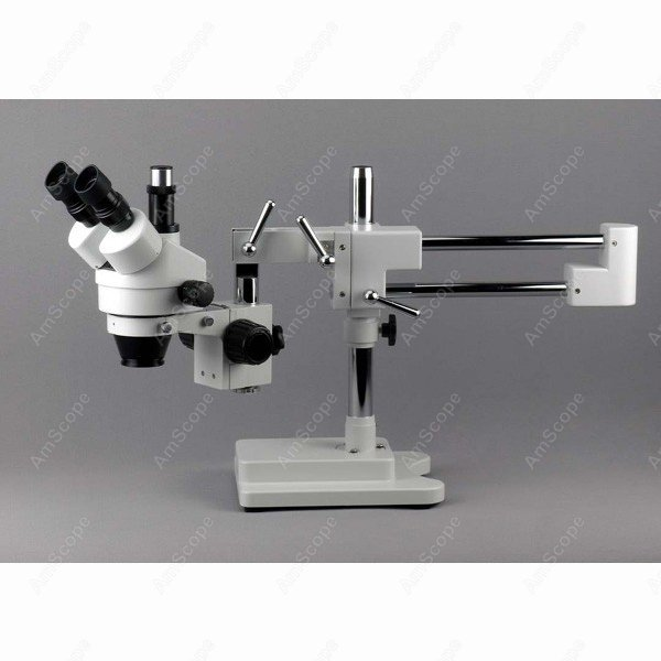 где купить Boom Stand-AmScope Supplies 7X-45X Simul-Focal Stereo Zoom Microscope on Dual Arm Boom Stand SKU: SM-4TP дешево