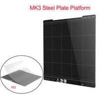 MK3 Plate-forme de plaque d'acier de ressort 254*241MM Plate-forme d'imprimante 3D de lit chauffant + pièces d'imprimante de la feuille 3D de PEI pour l'autocollant de Hotbed de I3 MK3 MK3S