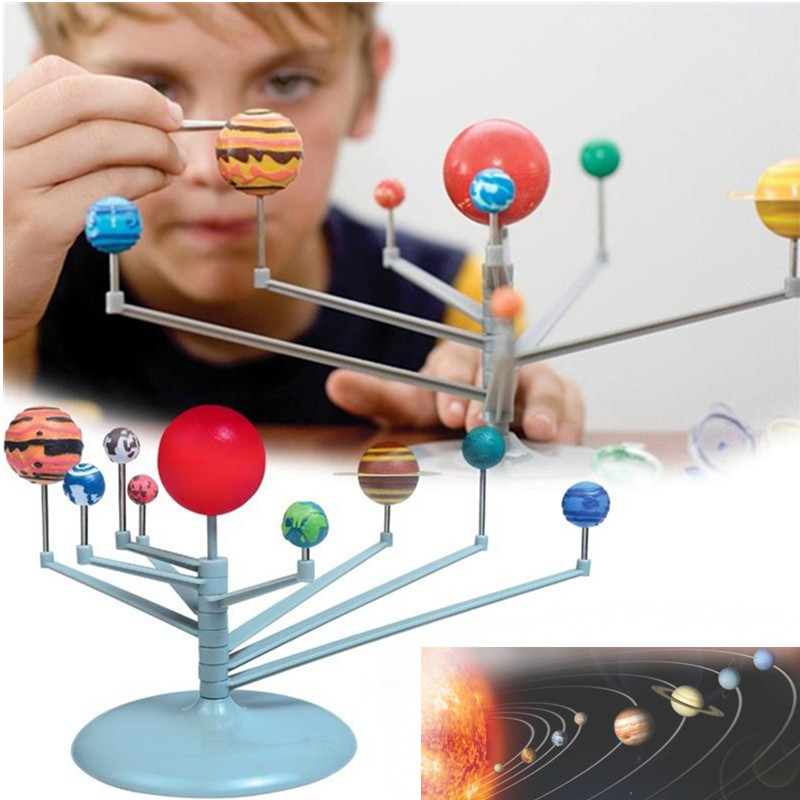 Children/'s 3D Astronomy Educational DIY Toys Nine Planets Science Solar System