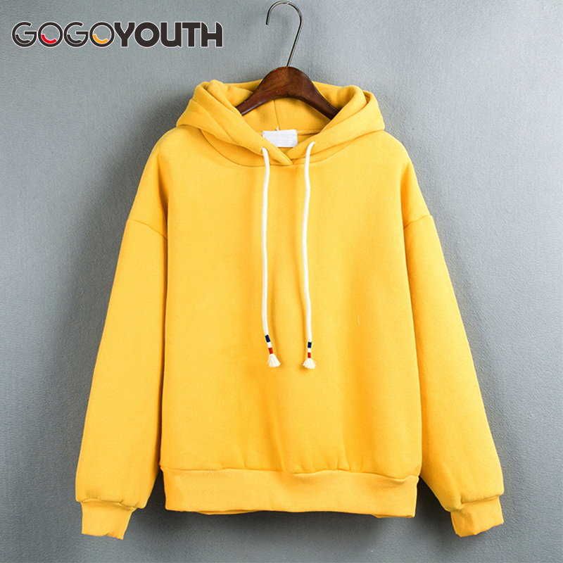Gogoyouth Harajuku Hoodies Women 2018 Hooded Sweatshirt Women Long Sleeve Pullover Sweatshirt Female Winter Bts Kpop Sweat Femme