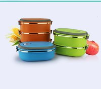 Single Layer Stainless Steel Student Lunch Box 900ML Food Container Cute Hand Pot Japanese Plastic Bento