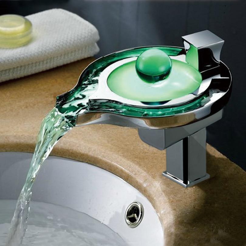 Aliexpresscom  Bad becken Führte Wasserhahn Wasser  ~ Wasserhahn Led