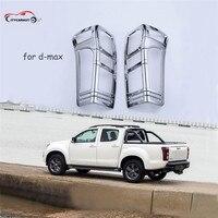 Citycarauto 2012 2017 Car Chrome Strip For Isuzu D Max Accessories Rear Lamp Cover Trim For