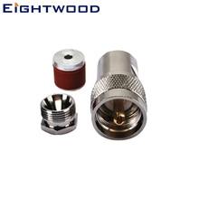 Eightwood 5 шт. антенна военный разъем UHF зажим штекер RF коаксиальный разъем адаптер для LMR195 RG58 прямой кабель