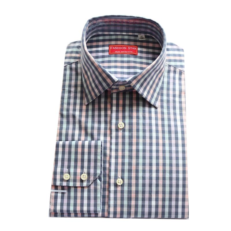 small grey/black/pink multicolored plaid men's custom tailor made casual Dress Shirt,bespoke MTM spring/autumn cotton blouse