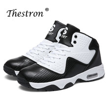Unisex Air Basketball Shoes Large Size 36-46 Women High Top Sneakers Mens Court Red Blue Sport