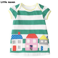 Little maven 2017 new summer baby girls clothes kids Cotton embroidered house dresses S0177