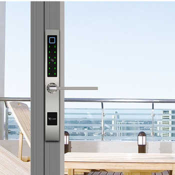 Smart Bluetooth TTLock App Fingerprint Door Lock for Aluminum Swing Door