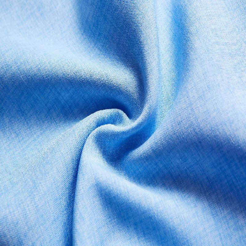 春秋男性のリネンシャツ 2019 新メンズカジュアルシャツ綿プラスサイズスタンド襟白スリムフィット男性長袖シャツ 5XL