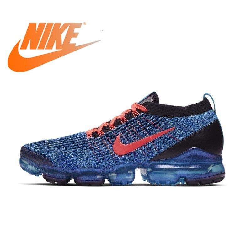 Oficial autêntico Nike AIR VAPORMAX 3 FLYKNIT tênis de corrida dos homens calçados esportivos calçados esportivos ao ar livre à prova de choque e durável AJ6900