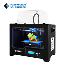 FlashForge 3d Printer Creator Pro Open Source 6.3mm heated aluminum build plate Dual Extruder W/2 Spools Factory Outlet