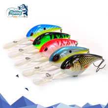 Купить с кэшбэком 1 PCS Fishing Lure Crankbait  75mm 28.3g Artificial Hard Lure Mini Crank Bait Fishing Wobblers Tackle Minnow Fishing Lures