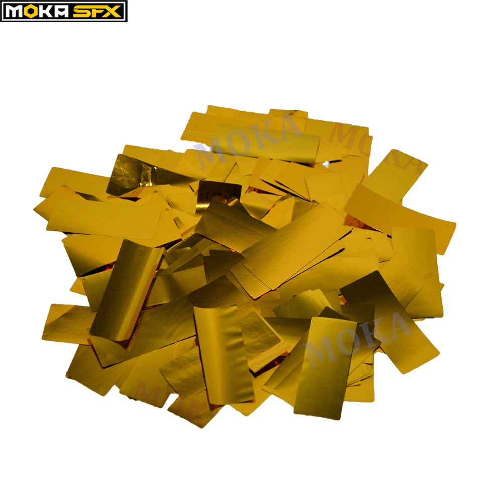 3kg lot golden confetti paper bulk Confetti cannon machine Of Party Or Wedding Event fast ship