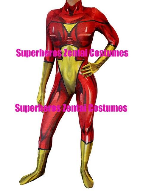 3D impresión personalizada araña-Mujer lycra Zentai traje spandex Mujer  Araña Superhero disfraces spiderwoman Cosplay d7a275f3bd7