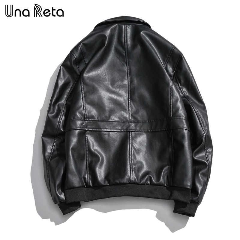 Una Reta мужские кожаные куртки Уличная Новая мужская куртка с вышивкой Высокое качество мотоциклетный велосипед ковбойские куртки пальто мужские