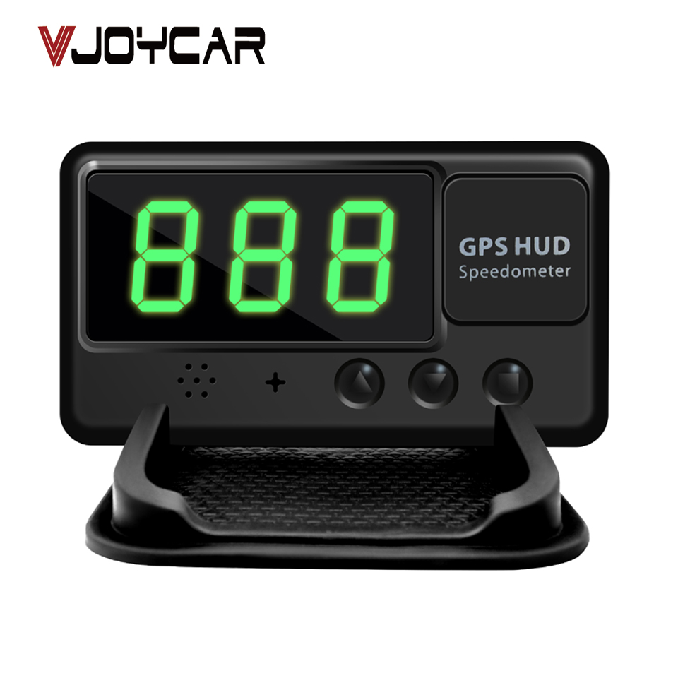 VJOYCAR C60 Universal Car HUD GPS Speedometer Head Up Display Windshield Digital Speed Projector Overspeed Alarm For All Vehicle rastp m9 hud 5 5 inch head up windscreen projector obd2 euobd car driving data display speed rpm fuel consumption rs hud011