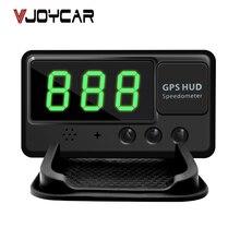 Vjoycar C60 Универсальная автомобильная HUD GPS Скорость ometer Head Up Дисплей лобовое стекло Digital Скорость проектор overspeed сигнализации для всех транспортных средств