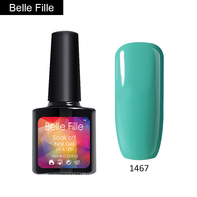 Belle Fille Neon Color Gel Nail Polish UV Soak Off Shinning Varnish ...
