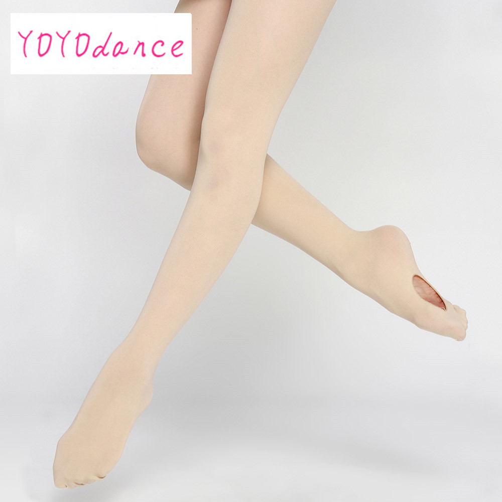 Wholesale Adult Women Pink Dancewear Ballet Soft Microfiber Convertible Dance Ballet Tights With Holes For Sale 4820