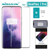 1+ 7 pro 3D DS+ Max Full Cover for OnePlus 7 Pro Glass Tempered Glass Screen Protector Round Edge 1+ 7 pro Nilkin HD Glass Film