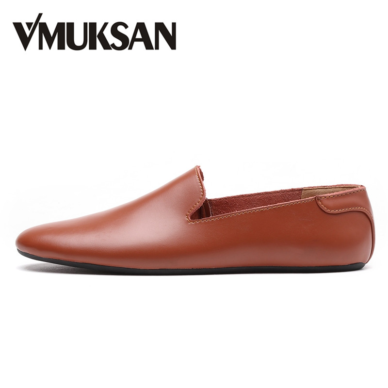 VMUKSAN High Quality Leather Men Casual Shoes Slip On Fashion Mens Loafers 2017 Brand Designer Man Moccasins vesonal 2017 top quality lycra outdoor ultralight slip on loafers men shoes fashion stripe mens shoes casual sd7005