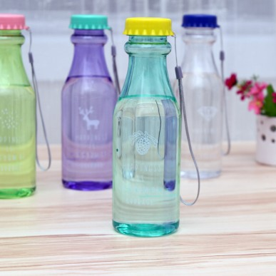 New simple bottle Multi functional portable leakproof soda bottle 20 5 6 5cm 650 ml free shipping in Water Bottles from Home Garden