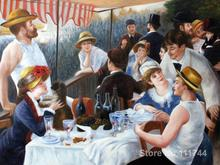 Christmas Gift,Luncheon of the Boating Party by Pierre Auguste Renoir paintings,modern art,High quality,Handmade