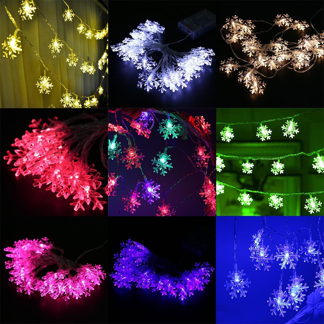 NEW 1pcs Christmas Lights Outdoor 10m 100LED String Lights Garden Light for Home Wedding Party Decoration EU Plug