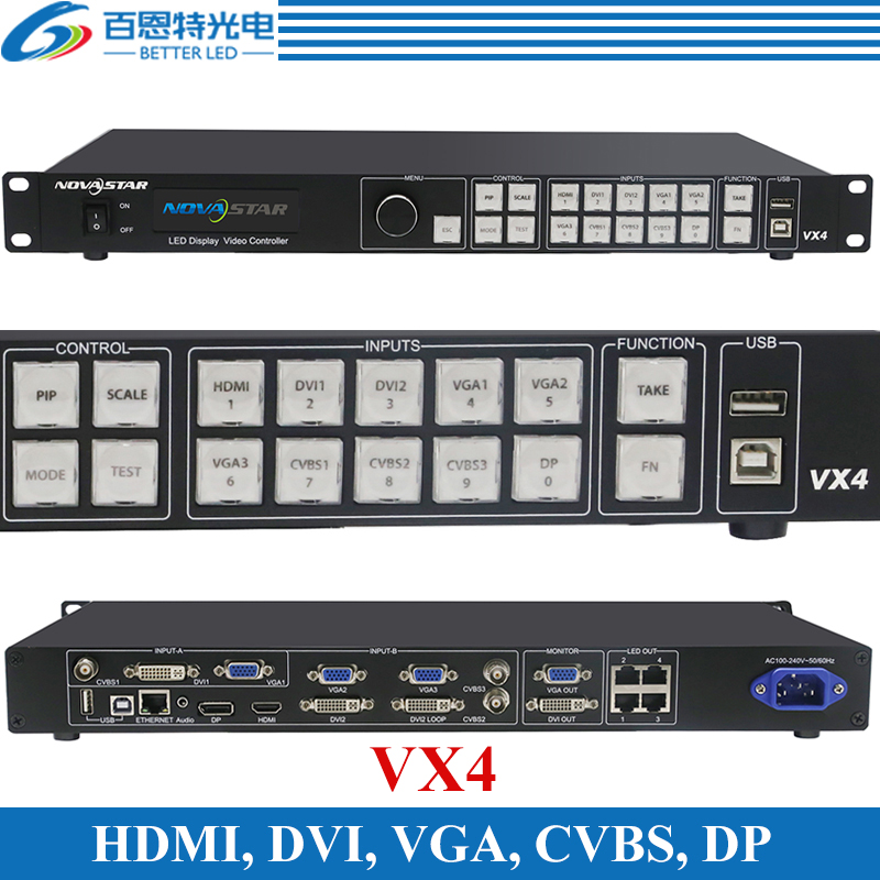 Novastar VX4 All-In-1 LED Video Controller HDMI Quad LED Rental Wall Screen HD External Video Processor Scaler