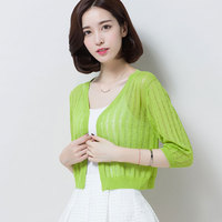 New Design Summer And Spring Women S Linen Knit Cardigan Elegant Solid Color Ladies Hollow Out