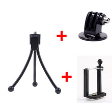 Kaliou Camera Desk Table Mini Flexible Octopus Tripod with Mount Adapter Phone Clip Holder for Gopro 6 5 4 3 2 1 Canon DSLR