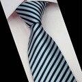 O mais novo dos homens de Poliéster Gravata Marca Clássico Listrado Gravata Gravata Para Homens Vestuário de Moda Masculina Gravata Gravatas Para Festa Negócio casamento