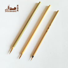 6Pcs/Set water color brush artists Weasel Hair Aquarelle Paintbrush green Bamboo Round Head Hook Line Pen Depict pen art brush 6pcs set watercolor brush weasel hair aquarelle paintbrush wooden handle artist paint brushes diamond shape hook line pen
