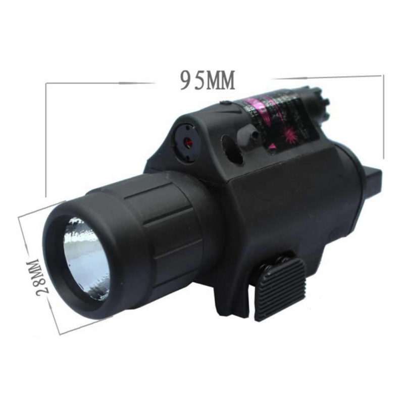 Flashlight Tactical Insight Red Laser LED Tactical Flashlight + Green /RED Laser Sight Scope Picatinny Rail