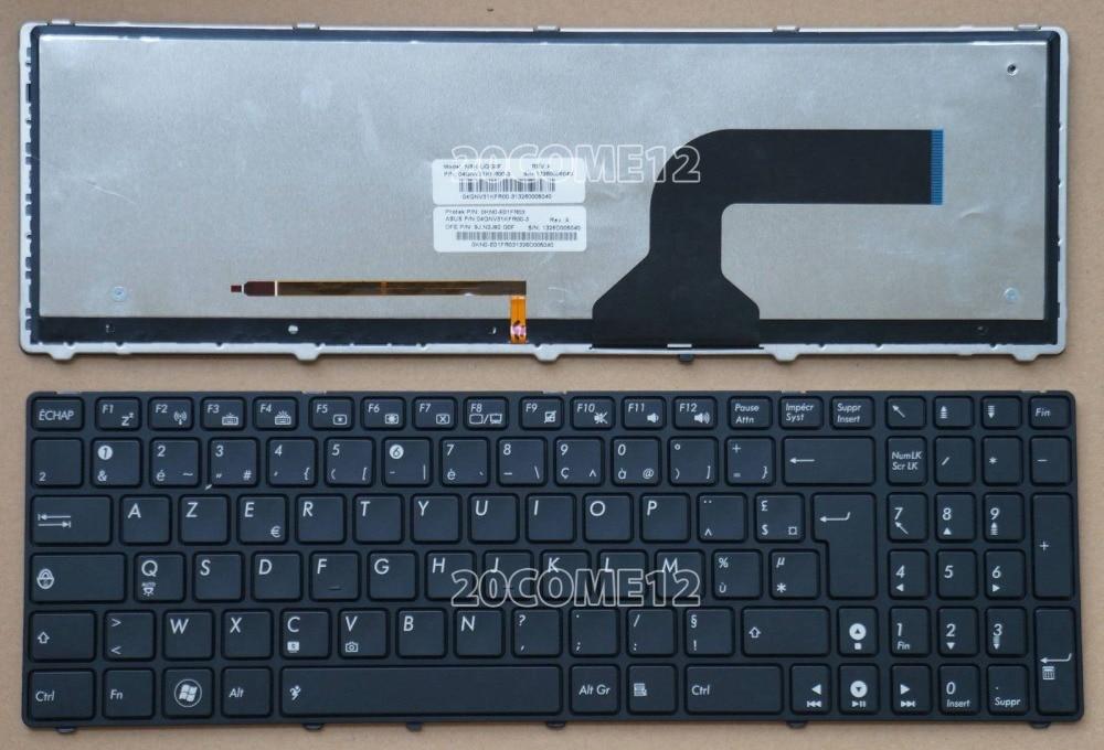 New notebook Laptop keyboard for  ASUS G73 G73JH G73JW G73SW UX50 UX50V  Backlit  French/Fr layout laptop keyboard for acer silver without frame swiss g sw v 121646ck2 sw aezqss00110