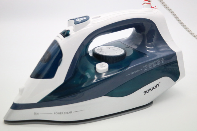 2200w Ful Steam Iron For Clothes Ceramic Base Plate Electric Irons Handheld Vertical Steamer Home Use