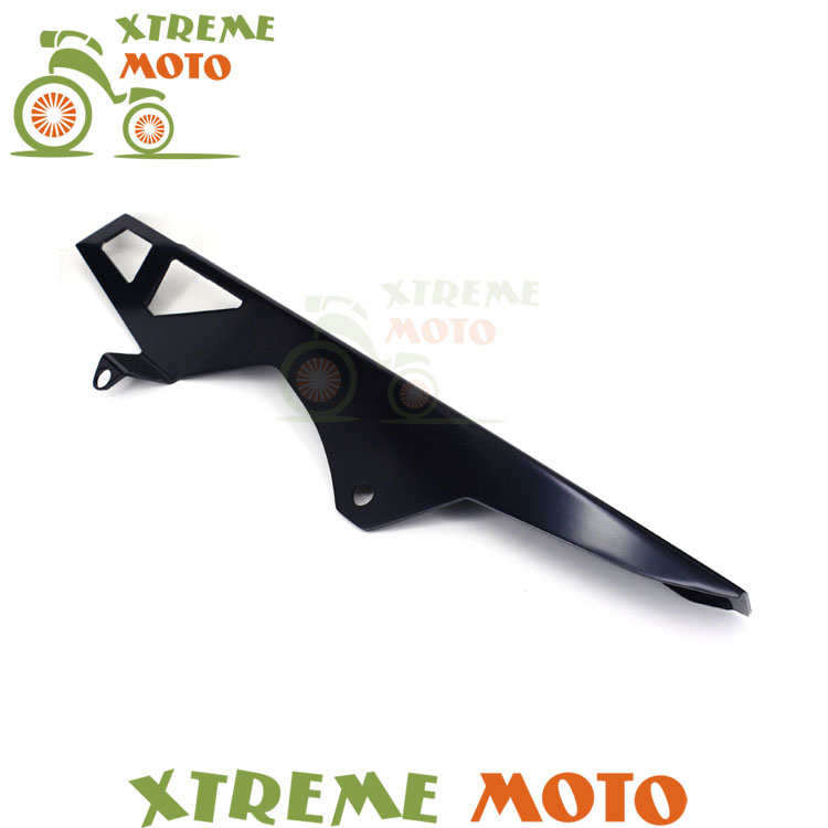 Aluminum Black Chain Guard Cover Shield For Suzuki GSXR600 GSXR750 06-10 07 08 09 2006 2007 2008 2009 2010 Motorcycle Parts new motorcycle ram air intake tube duct for suzuki gsxr600 gsxr750 2006 2007 k6 abs plastic black