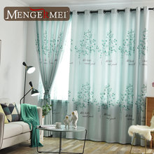 Tree Curtain For Living Room Elegant Tulle Curtains for Bedroom Kitchen Customized Treatment Window 224