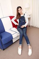 Maternity Clothing Pants Spring Autumn Cotton Jeans Plus Size Overalls Pregnant Women S Large Size
