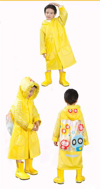 f18b713892f6 Online Shop Owl PVC Kids Raincoat Waterproof Baby Fashion Design ...