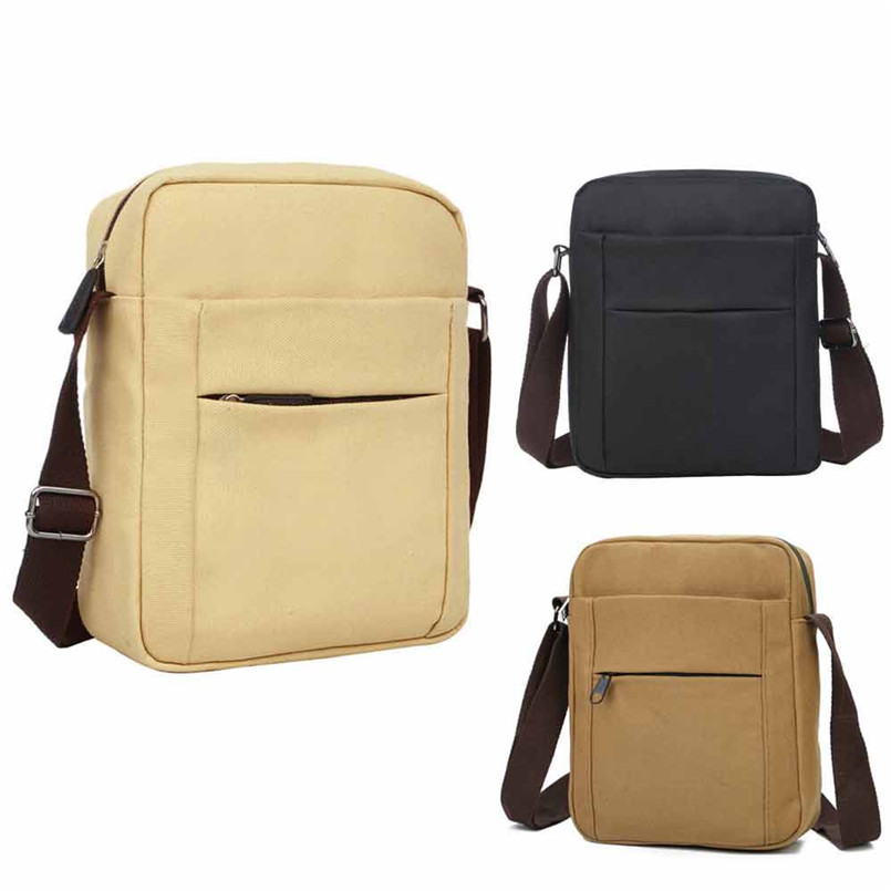 2018 Hot Sale Men Waterproof Crossbody Bags bolsos Canvas Shoulder Bag 3 Colours High Quality Zipper Tote Handbags for Men 2018T