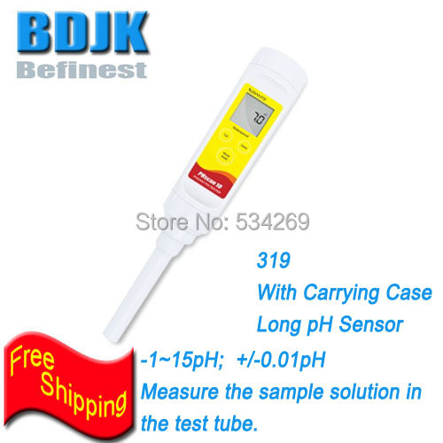 Digital Waterproof Ph Tester -1~15pH Portable PH Meters Measuring Liquids in the Tube With Carrying Case& Long Ph Sensor 4 8 days arrival lb92t portable sweetness tester brix meter with measuring range 58 92