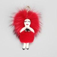 Raccoon Fur Pom Poms Fashion girl accessories Luxury Fluffy Raccoon Fur Ball Real Fur for bag & key chains Accessories