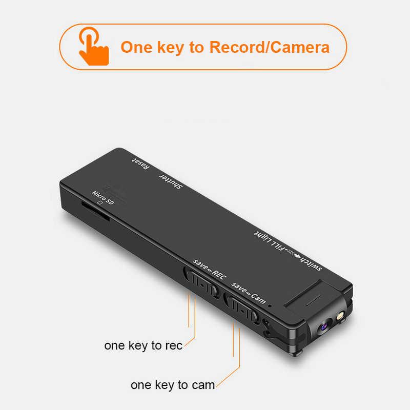 فاندليون A3 كاميرا يمكن حملها بالجسم كاميرا صغيرة رقمية عالية الدقة مايكرو كام المغناطيسي الحركة لقطة مصباح يدوي حلقة تسجيل مسجّل وكاميرا فيديو كام