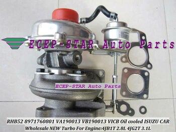 ฟรีเรือน้ำมันเย็น Turbo RHB52 8971760801 VA190013 VICB Turbine Turbocharger สำหรับ ISUZU 4JB1T 4JB1-T 2.8L 4JG2T 3.1L ปะเก็น