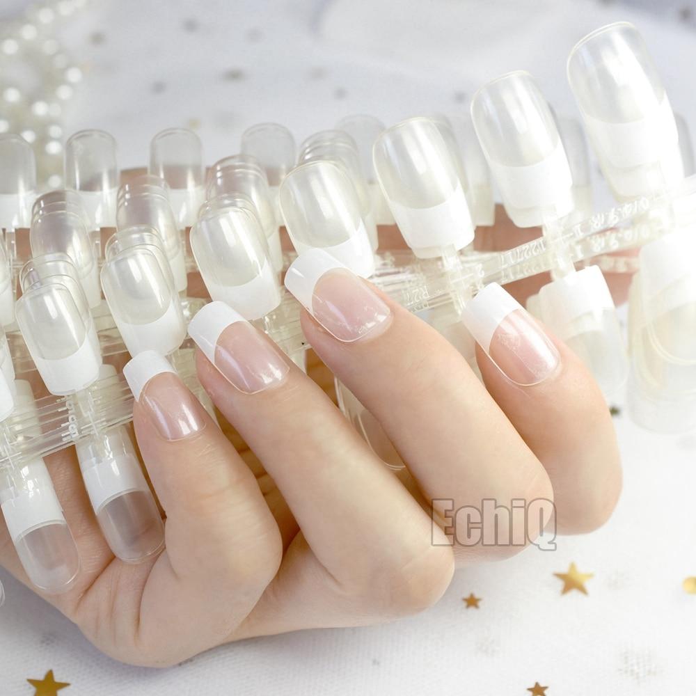 10 Sets Fashion Clear French Nails Tip Acrylic Fake Nail Tips Full ...