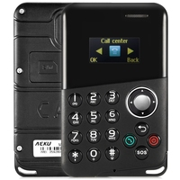 In Stock Original AIEK M8 0 96 Inch 4 8mm Card Mobile Phone With Bluetooth MP3