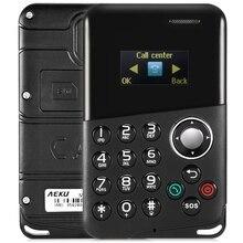 Auf Lager Original AIEK M8 0,96 zoll 4,8mm Karte Handy Mit Bluetooth MP3 Wiedergabe Nachricht QWERTY Tastatur Tasche handy
