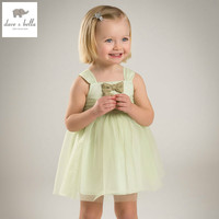 DB5038 Dave Bella Summer Baby Girls Princess Dress Child Solid Dress Wedding Dress Kids Birthday Dress